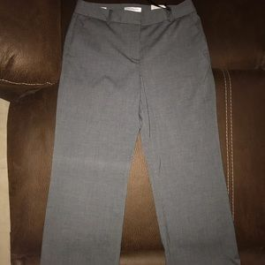 Stretch office pants.  Gray